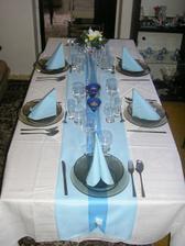 stôl na zásnuby, ktorý som sama pripravila