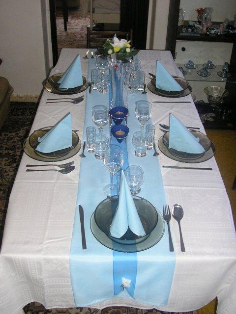 9. september 2006 - stôl na zásnuby, ktorý som sama pripravila