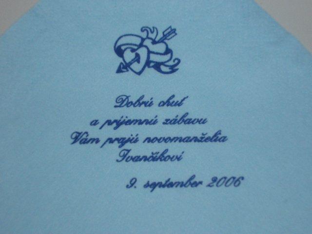 9. september 2006 - text zblízka