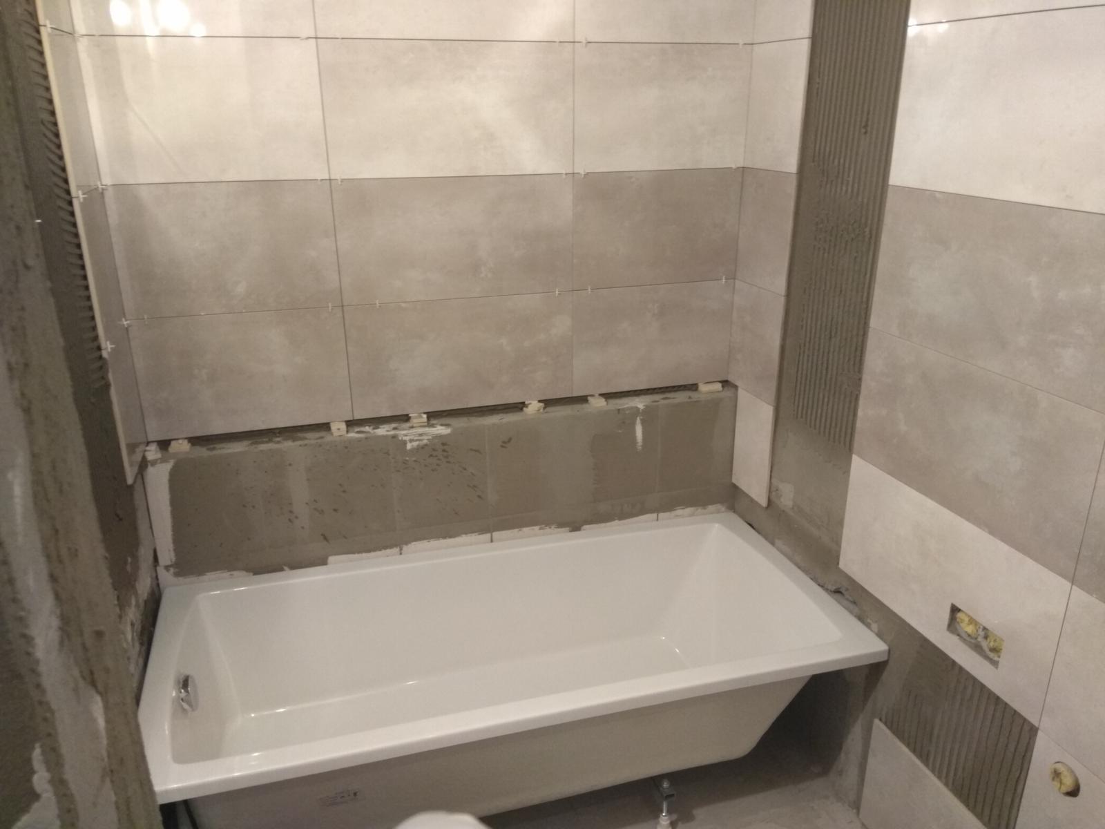 Prerábka panelákovej kúpelne a wc - Skúška či vojde vaňa :D