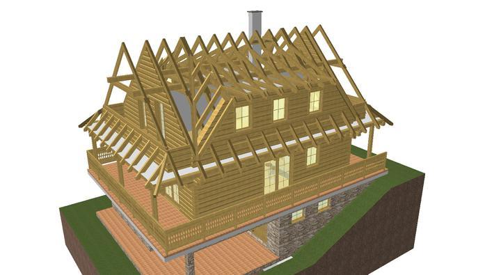 Projekt domu - takto bude krov