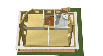 kupelna spalna a 2 izby.