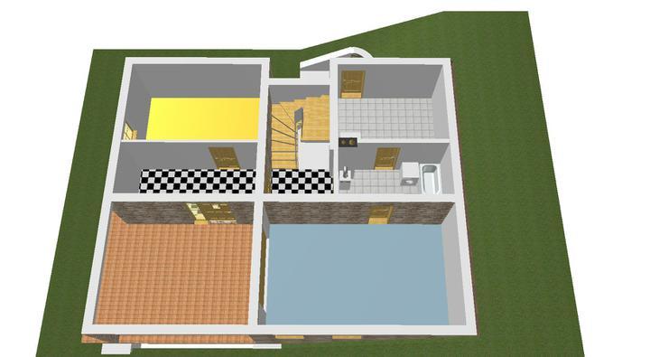 Projekt domu - garaz, pracovna, kotolna a 1 miestnost-ja ju volam satnik