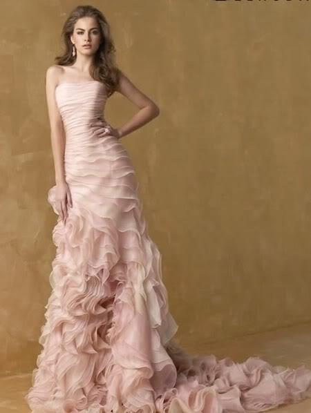 Svatební šaty - růžové i červené až do bordó - Obrázek č. 536