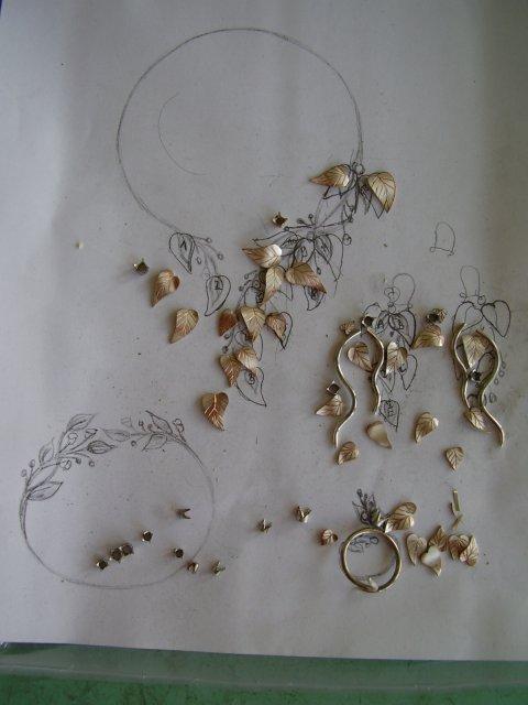 Moje prípravy - časti skladačky mojich šperkov