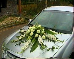 kamarátkine svadobné auto (môj výtvor:))