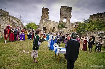 Obřad byl na vnitřním nádvoří hradu Boskovice
