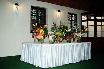 Kvetinky od gratulantov..