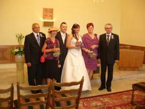 s rodiči po obřadu