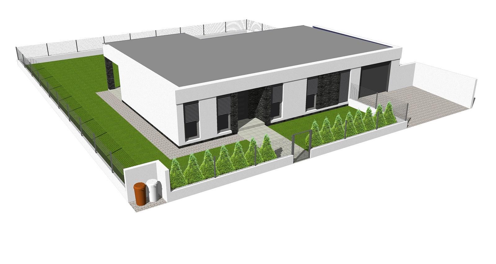 Domy s rovnou a pultovou strechou - Fotka skupiny