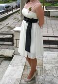 krémová šaty, 38