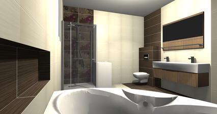 a takto by mal vyzerat obklad (sprcha bude bez vanicky a ine umyvadlo a zrkadlo)