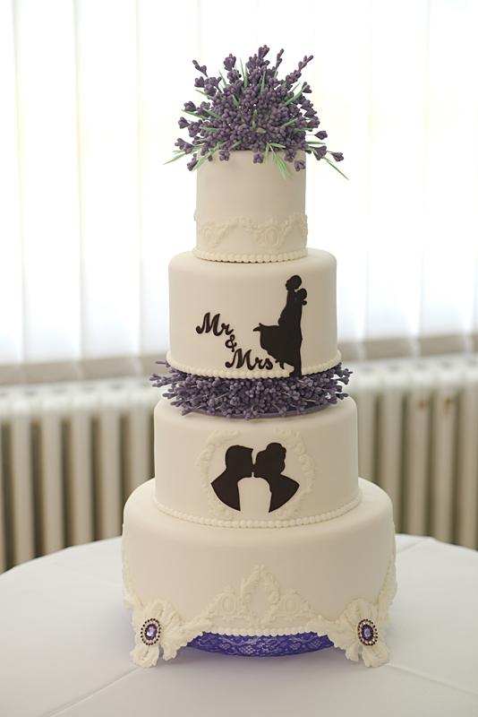 """""""NAŠA"""" levanduľová jutová výzdoba - naša svadobná torta"""