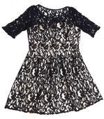 čierne čipkované spoločenske šaty, 42