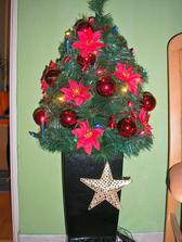 maly vianocny stromcek v kuchyni