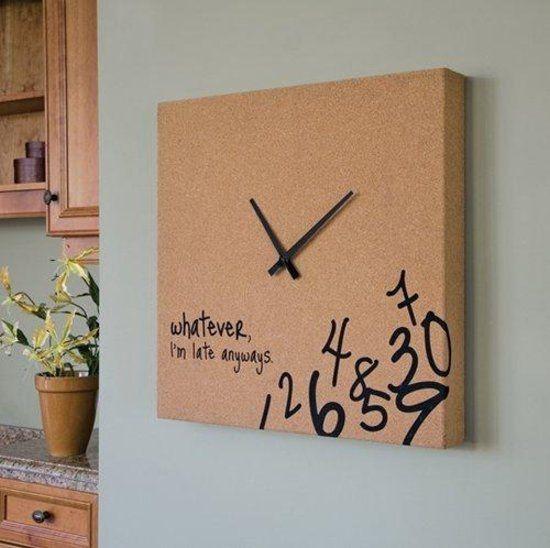 Zlepšováky, nápady, vychytávky - Staci karton, hodinove rucicky a vasa kreativa
