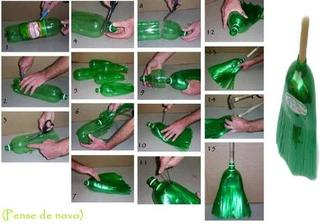 Metla z plastove flasky