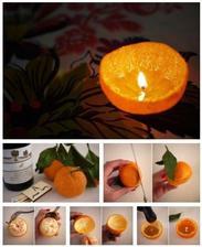 Urobte si sviecku z pomarancovej supky a oleja