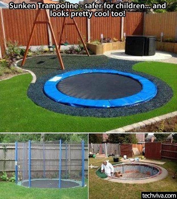 Zlepšováky, nápady, vychytávky - Bezpecna trampolina v zemi - a deti vam uz nebudu padat z vysky na zem.