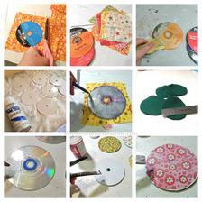 Podlozky pod pohare zo starych CD - ciek