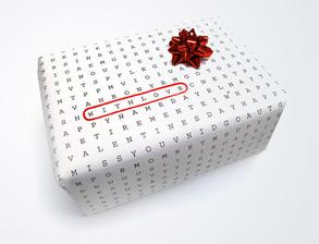 Univerzalne pouzitelny baliaci papier - staci len zaskrtnut, k akej je prilezitosti