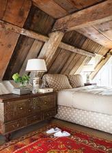Za posteľ drevený obklad, ako bude podlaha