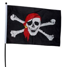 Pirátsku vlajku mám vybranú na ebay, za 5e kus.
