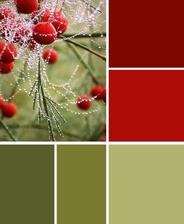 Farebna kombinacia bude ladena takto - taketo olivovozelene farby a cervene a kombinovane s bielou a zltou...