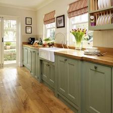 kuchyna bude takto olivovo zelena