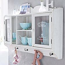 z polic na stenu sa budem rozhodovat medzi touto: polica na taniere amazon Shabby Chic Wooden Wall Cabinet, Antique White Finish  80 eur