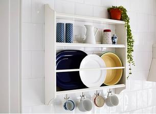z polic na stenu sa budem rozhodovat medzi touto: polica na taniere stenstorp Ikea 50eur