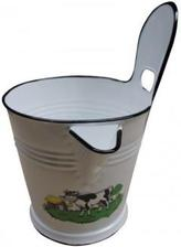 vedro na mlieko www.svethobby.sk 12eur bude zavesene vedla kachli alebo na trame vedla kosikov