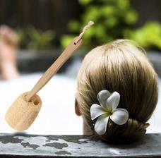kefa masazna Hot Sale Natural Loofah Long Wood Handle Shower Bath Body Back Brush www.wish.com 2eura