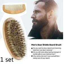 kefa na bradu Natural Boar Bristle Beard Shaving Brush www.wish.com 2eura