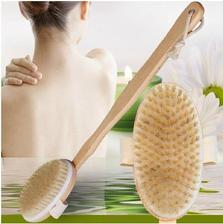 kefa na masaz Long Handle Wooden Bath Shower Brush Soft Bristle Body Cleaning Brush Massager Bathroom Accessories 2eura www.wish.com
