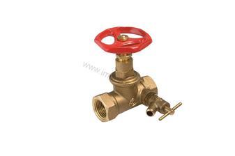 radiator Uzatvárací ventil s odvodnením 8eur premalovat vo farbe lustra - strieborny alebo mosadzny