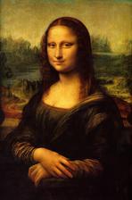 obraz do stareho ramu na stenu vedla zrkadlovej steny Mona Lisa