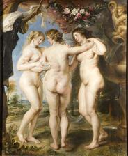 obraz do stareho ramu na stenu vedla zrkadlovej steny Tri gracie