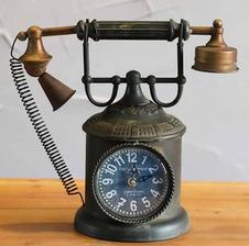 telefon na krb wish.com 14eur Retro Home Decorate Furnishing Telephone Clock Crative Vintage