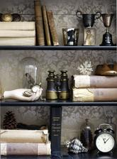 dekoracia musla a vreckove hodinky a betonova ruka