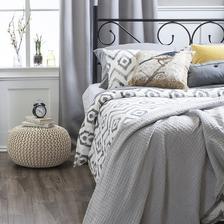 Pletený taburet, krémová bavlna, GOBI TYP 2 kondela 33eur