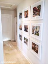 fotky na jednu stenu jednotne rovnake ramiky