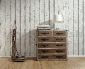 moja spalna: mozno dosky za postelou z tapety Vliesové tapety na stenu Wood'n Stone dosky drevené biele 16eur www.tapety-folie.sk len pojdu rovnobezne