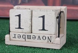 moja spalna: kalendar spalna Natural Perpetual Reusable Wooden Solid Block Date Calendar Home Desk Decor  6eur wish