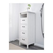 moja spalna: komoda zasuvkova Ikea Brusali Šírka 51 cm Hĺbka 48 cm Výška 134 cm cena 80eur