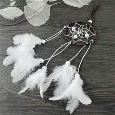 moja spalna: lapac snov Dream Catcher With White Feather Beads Wall Hanging Decor Craft Car Ornament KY ebay.com 1,5eura