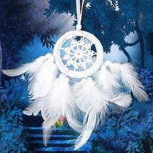 moja spalna: lapac snov New Cute White Angel Feather Dream Catcher ebay.com 2eura
