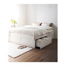 moja spalna: postel bud postel BRIMES ikea 129eur rozmer 140cm