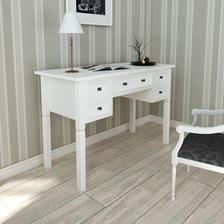moja spalna: stol pisaci Biely písací stôl s 5 zásuvkami 141eur vidaxl.sk