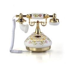 do mojej spalne: na nocny stolik telefonik Antique Designer Phone nostalgia telescope vintage telephone made of ceramic MS-9100  24eur www.wish